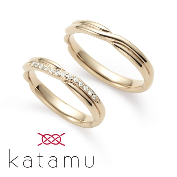 和風な結婚指輪を探すならKatamuの縁えにしがかわいい