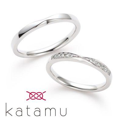 和風な結婚指輪を探すならKatamuの千幸がかわいい