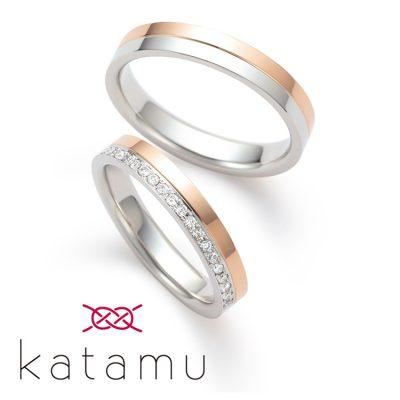和風な結婚指輪を探すならKatamuの͡八千代が綺麗