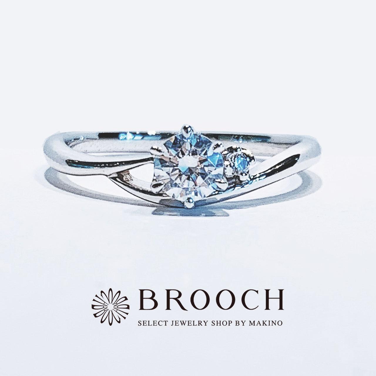 BROOCH 婚約指輪 エンゲージリング かわいい シンプルデザイン
