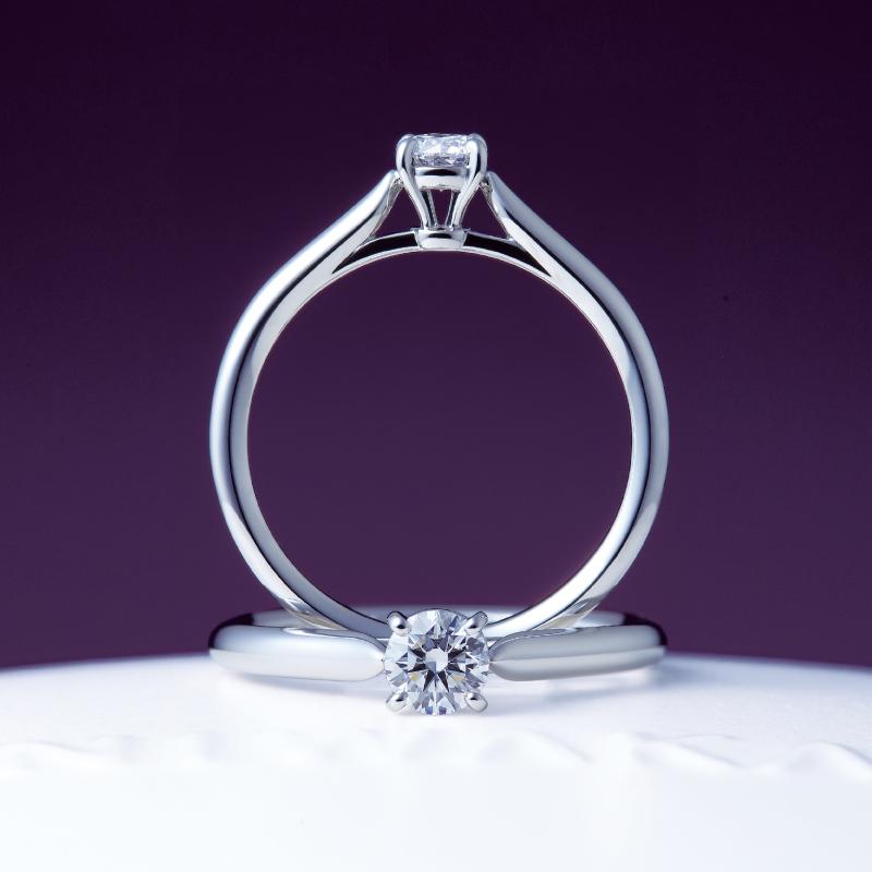 一石シンプルな春にあげたい婚約指輪