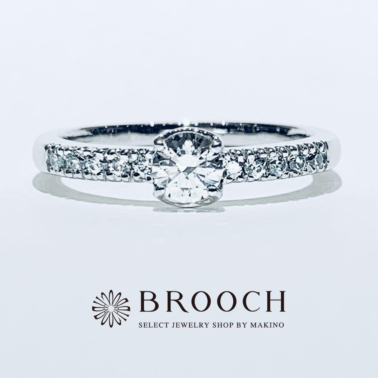 BROOCH 婚約指輪 エンゲージリング かわいい ダイヤモンドライン