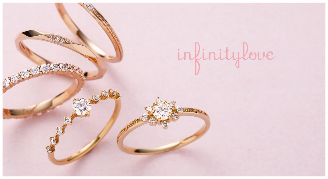 新潟結婚指輪婚約指輪かわいいフラワーモチーフプラチナゴールドダイヤモンド
