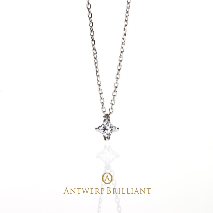 "Sirius necklace ""PRINCESS Cut Daimond"""
