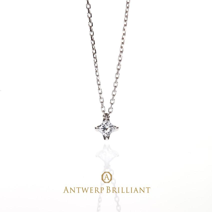"""Sirius necklace """"PRINCESS Cut Daimond"""""""