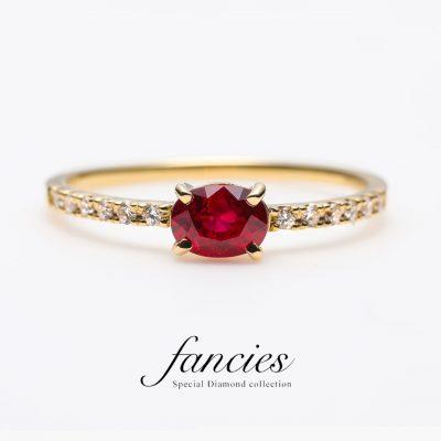 7月の誕生石のルビーで婚約指輪(エンゲージリング)やネックレスを作りたい方はBROOCH(ブローチ)へ