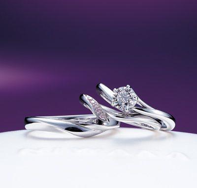 新潟で俄の婚約指輪・結婚指輪はブローチ