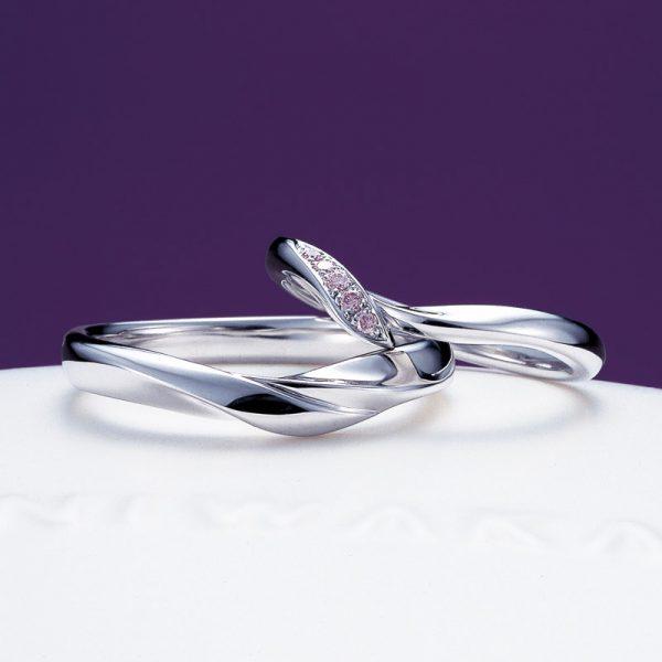 新潟で人気の結婚指輪は桜のイメージの俄【にわか】ういざくら【初桜】