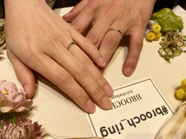 毎日プロポーズしていたというおふたりがお選びになったのは、愛を繋ぐカフェリング