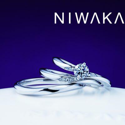 新潟でプラチナの結婚指輪を探すなら俄にわかの華奢可愛いデザインの朝葉