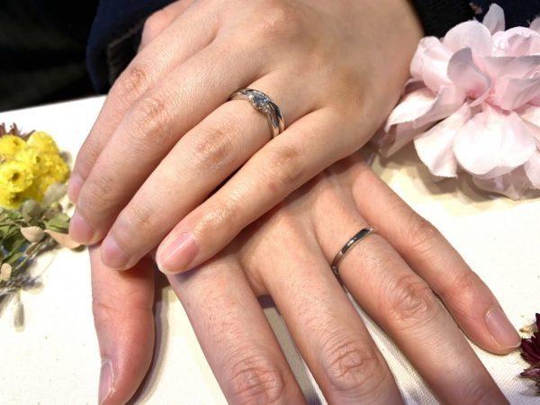 ダイヤモンドの品質にこだわった俄(にわか)の結婚指輪