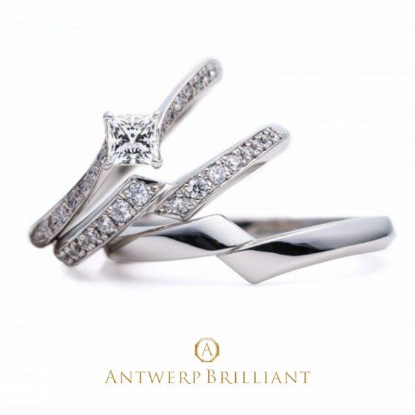 新潟のブローチで選ぶアントワープブリリアントの婚約指輪と結婚指輪のライトニング