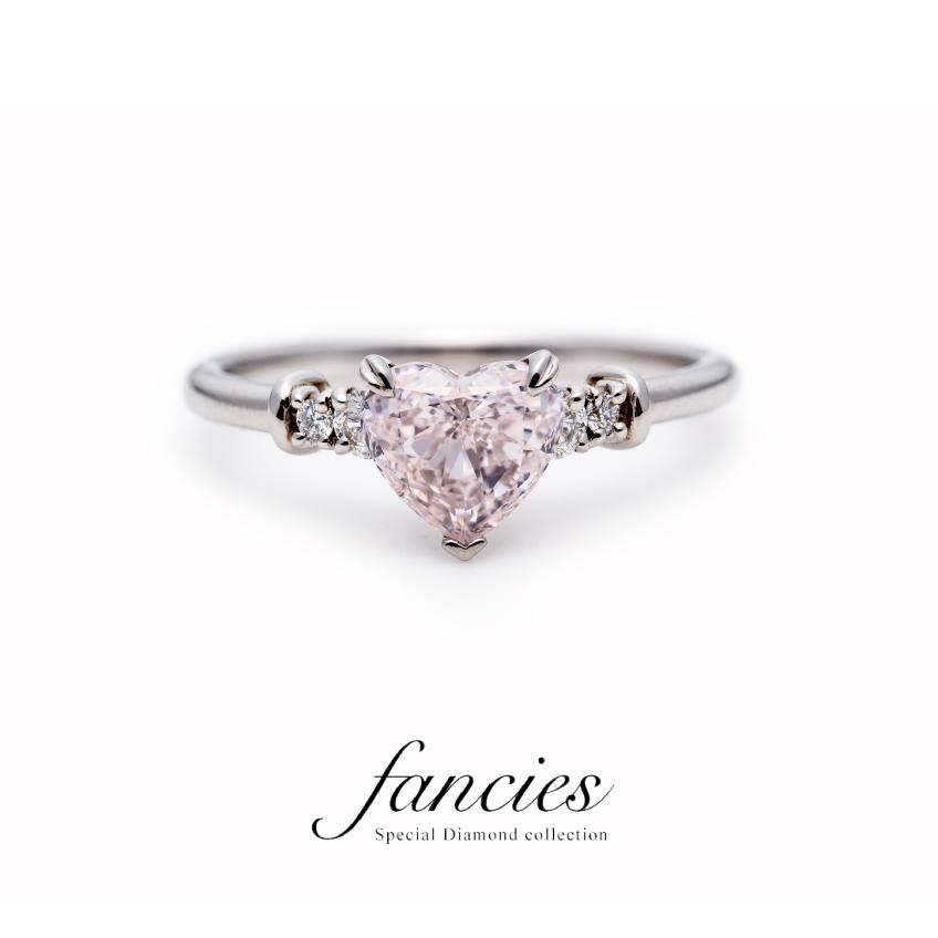 Pink Heart Shape Diamond Ring