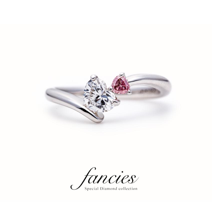 Double Heart Shape Cut Diamond Engagement Ring