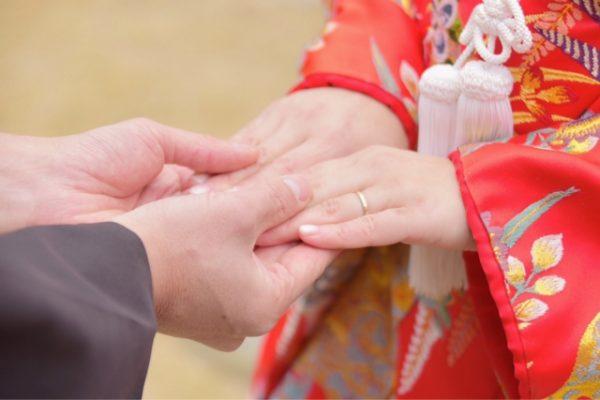 新潟花嫁に人気の結婚指輪、にわか【ニワカ】が和装挙式には欠かせない