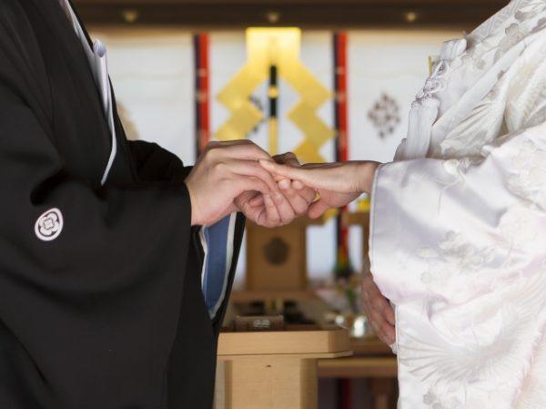 新潟花嫁に人気の結婚指輪、にわか【ニワカ】白無垢