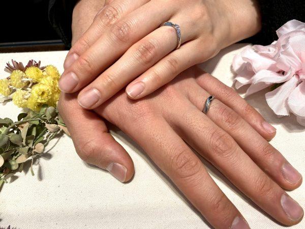 おふたりの運命のリングはピンクサファイアが可愛い俄(にわか)の「初桜(ういざくら)」