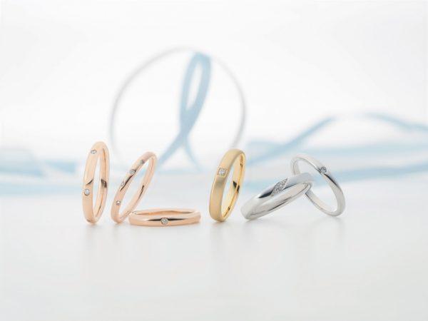 鍛造づくりのセミオーダーのスイスメイド結婚指輪フラージャコー