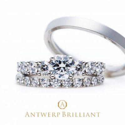 王道のダイヤモンドラインエンゲージリングは日常着けも特別感もこなすハイブリットジュエリーです