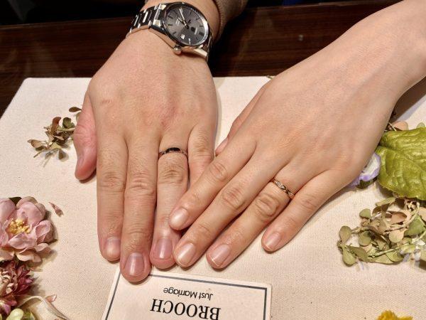 お花デザインの結婚指輪フラージャコーの「サクラ」