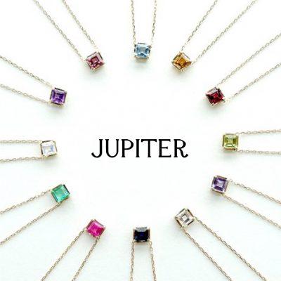 facetペンダントはJupiterの誕生石で出来たネックレス