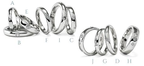 シンプルな海外の結婚指輪