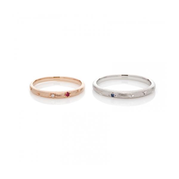 夏入籍の方にオススメな七夕をイメージした結婚指輪