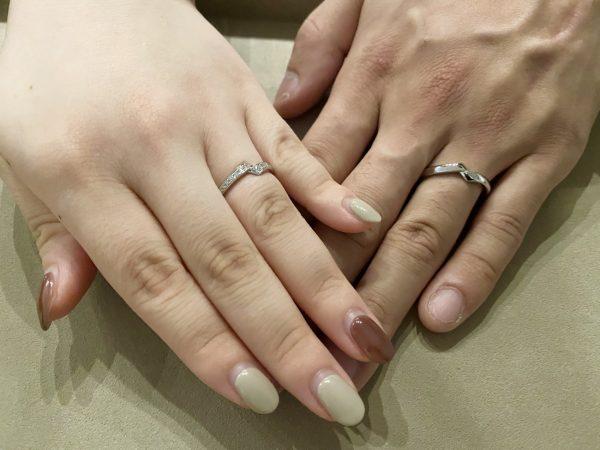 一目ぼれした結婚指輪はダイヤモンドも綺麗なNIWAKAの「綾」