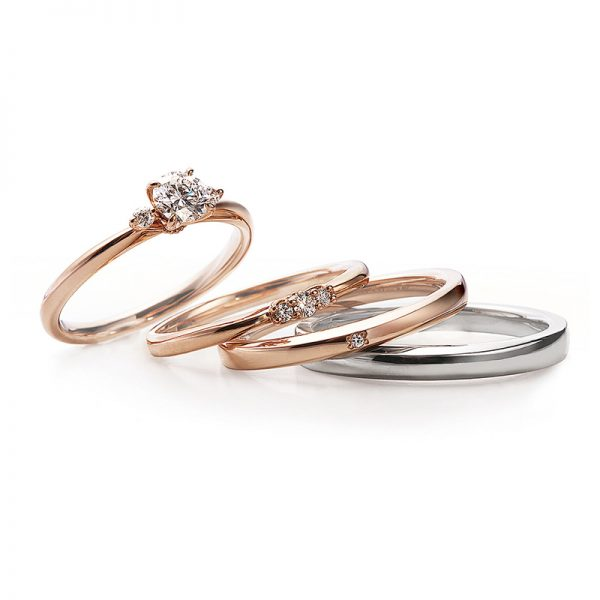 ピンクゴールドが可愛い結婚指輪ならブローチへ
