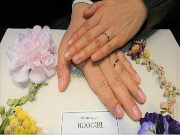 新潟のK様はプラチナでシンプルなLUCIE【ルシエ】の結婚指輪