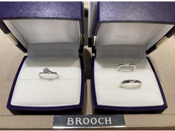 新潟に桜が咲く頃ご入籍のR様の婚約指輪と結婚指輪は俄【にわか】初桜【ういざくら】