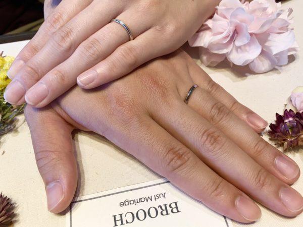 新潟のR様&S様はシンプルでかわいい結婚指輪(マリッジリング)