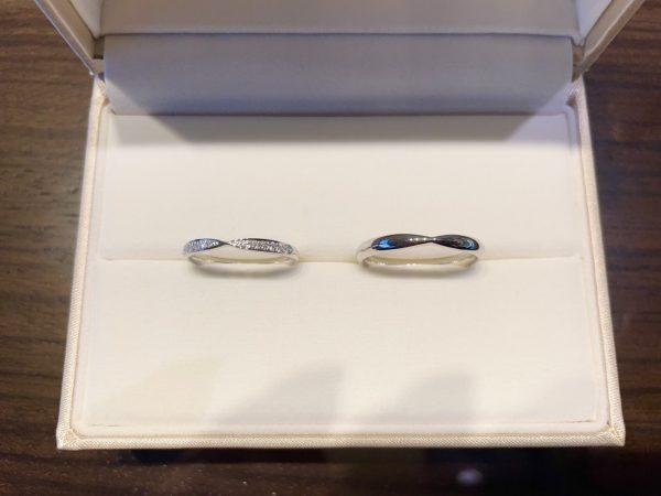 選んだのはダイヤモンドが綺麗なのが決め手!