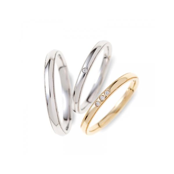 シンプルでかわいい結婚指輪
