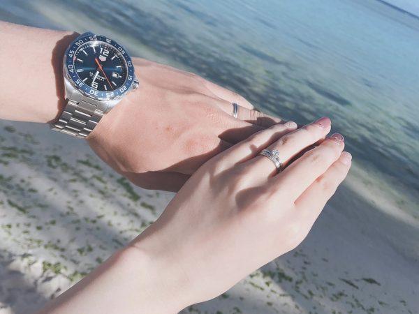新潟の海のプロポーズは婚約指輪(エンゲージリング)をサプライズで