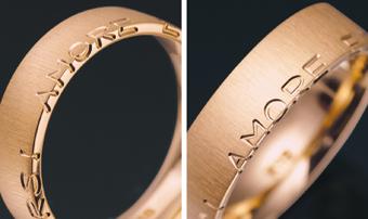 レガロにしかない文字彫刻の結婚指輪