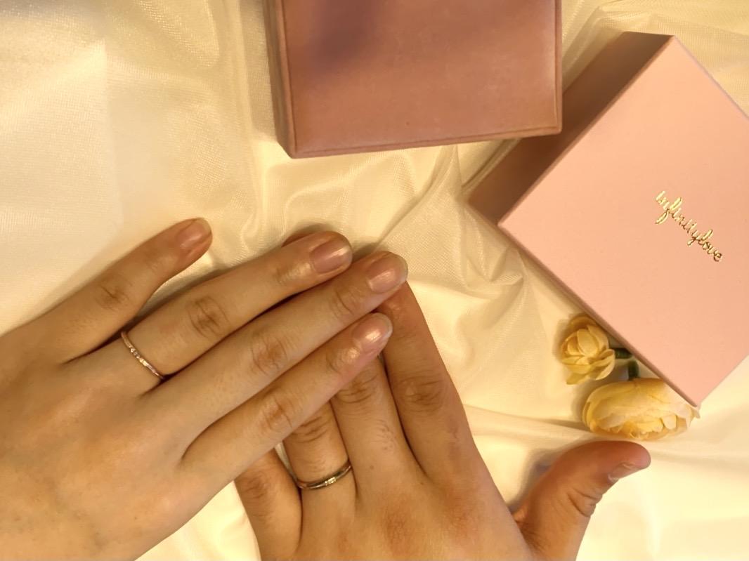 ピンクゴールドの結婚指輪がお気に入り!