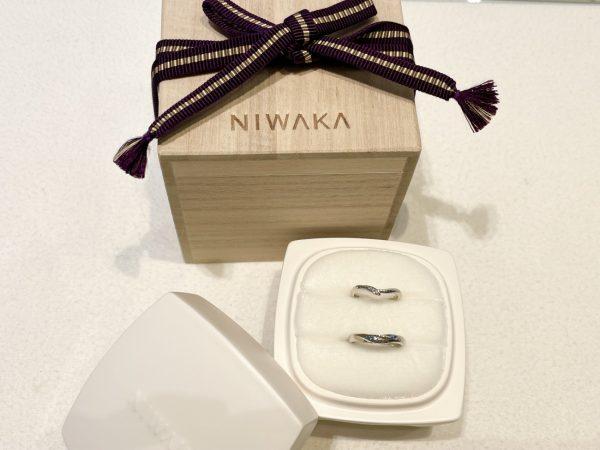 意味合いとデザインに惹かれた俄の結婚指輪【初桜】
