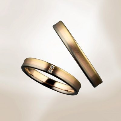 3カラーの結婚指輪鍛造で頑丈