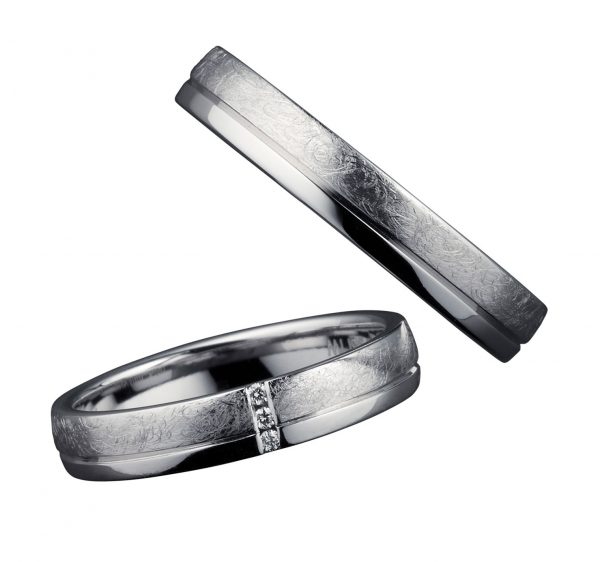 海外ブランドの鍛造の結婚指輪