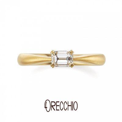 おしゃれなオレッキオの婚約指輪